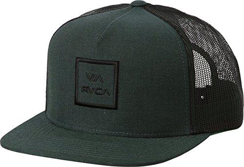 rvca-mens-va-all-the-way-trucker-hat-dark-green-one-size