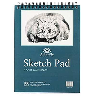 Perfect for Graphite /& Colored Pencils Heavyweight Acid-Free Paper Spiral-Bound 100 Sheets 80lb//118 gsm Charcoal Chalk ARTEZA 9X12 Gray Toned Sketch Pad Pack of 2 50 Sheets Each Gel Pens,