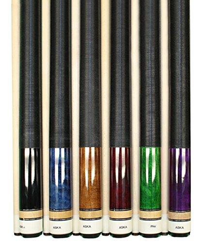 Aska Set of 6 L2 Billiard Pool Cues, 58