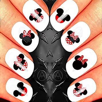 Minnie Mouse Nail Art Waterslide Decals Assortment Salon Quality