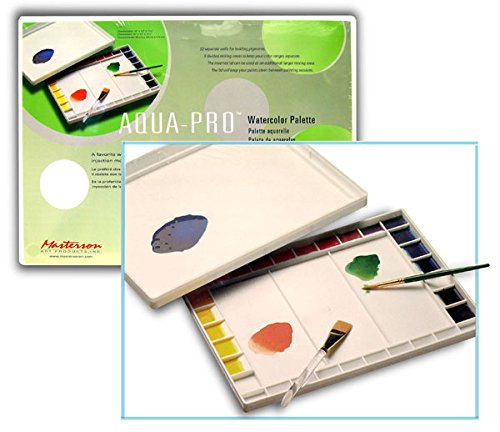 Aqua-Pro Artist Palette With Lid Has 32 Paint Wells (Pkg/2)