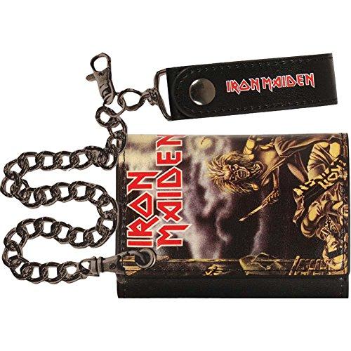 Iron Maiden Men's Tri-Fold Wallet Black