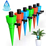 KakuFunny Self Watering Spikes,Universal Plant Watering Spikes with Slow Release Control Valve,Automatic Vacation Drip Irrigation Kit Watering Devices Plant Waterer for Outdoor Indoor Plants?6pcs