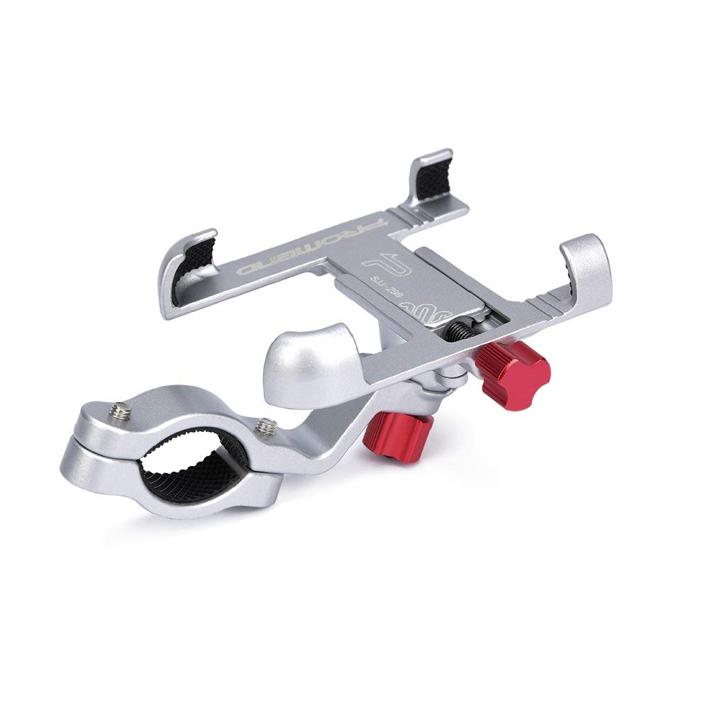 XR Galaxy S10 Adjustable from 2.2-3.7 Wide and 360/° Angle Promend Universal Aluminium Bike Phone Mount 8+ S10E X 8 Fits for iPhone Xs|Xs Max S10+ S9