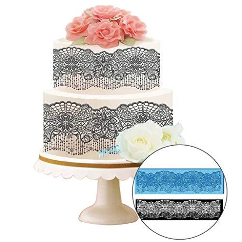FAERIE Lace Mold Silicone Flower Fondant Chocolate Wedding Cake Decoration