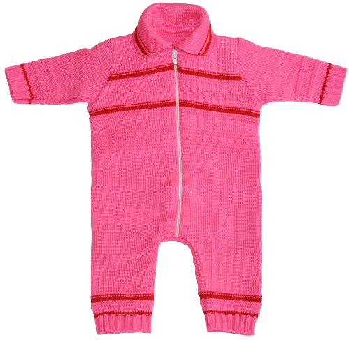 Knit Baby Playsuit, Size: 6-12 M, Color: Pink