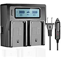 OAproda LCD Dual Fast Charger for Sony BP-U60, BP-U30, BP-U90 Battery and PXW-FS5/PXW-FS7/PXW-X180,PMW-100/150/160,PMW-200/300,PMW-EX1/EX1R,PMW-EX3/EX3R,PMW-EX280, PMW-F3/F3K/F3L Digital Camcorders