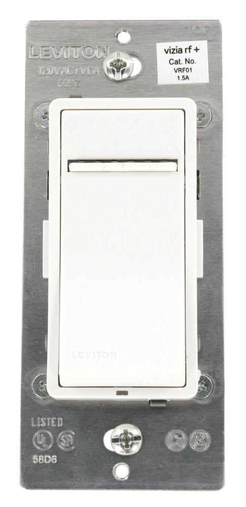 Leviton VRF01-1LZ Vizia RF + 1.5A Scene Capable Quiet Fan Speed ...
