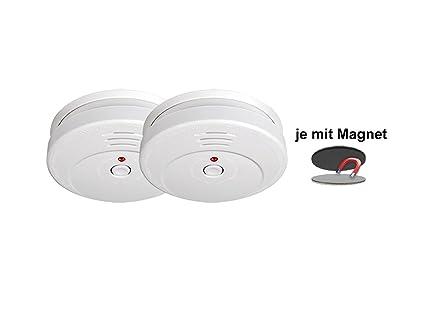 Detector de humo TÜV certificado con 5 años de batería & Easy magnético Fijación – pegar