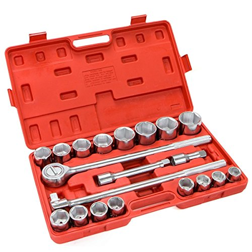 "PROSPERLY U.S.Product 21 Pc 3/4"" Drive Socket Wrench Set standard sae Tools Truck Repair Sockets Auto"