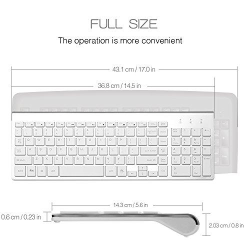 joyaccess wireless keyboard combo full size whisper quiet import it all. Black Bedroom Furniture Sets. Home Design Ideas