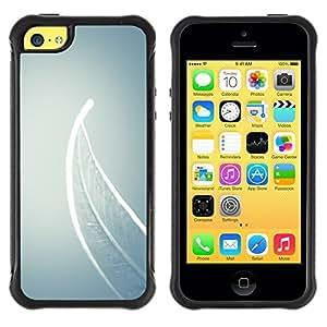 Suave TPU GEL Carcasa Funda Silicona Blando Estuche Caso de protección (para) Apple Iphone 5C / CECELL Phone case / / Meaning Deep Grey Gray /