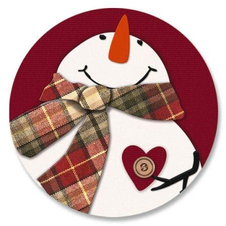 - Snowman Heart Envelope Seals- Set of 72 Holoiday Envelope Stickers