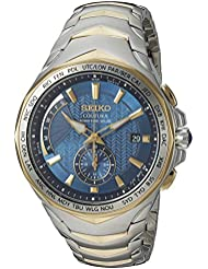 Seiko Mens COUTURA Quartz Stainless Steel Casual Watch, Color:Two Tone (Model: SSG020)
