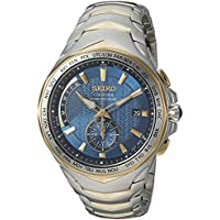 Seiko Men's 'COUTURA' Quartz Stainless Steel Casual Watch, Color:Two Tone (Model: SSG020)