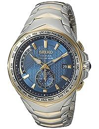 Seiko SSG020 COUTURA Reloj analógico de cuarzo japonés, dos tonos, para hombre