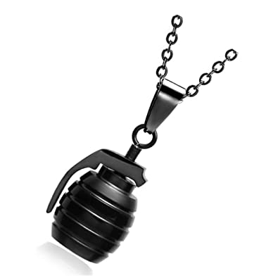 Amazon.com: BORNjewelry Hip CSGO Collar de acero inoxidable ...