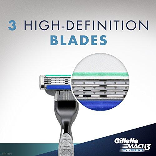 Amazon.com: Gillette Mach3 Turbo Mens Razor Blade Refills, 5 Cartridge, 1 Shave Gel: Beauty