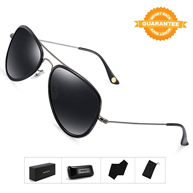 2ab2ce1be2 Image Unavailable. Image not available for. Color  Aviator Polarized  Sunglasses PARZIN Eyewear for Women