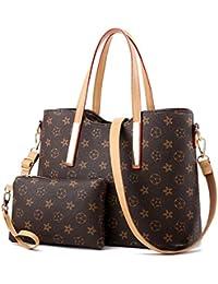 Waterproof Leather Handbags Set for Women Fashion Purse Shouler Totes Bags 7ed8ec1097