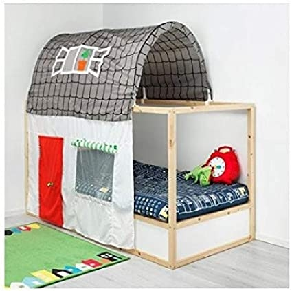 Ikea Asia Kura Bed Tent With Curtain Grey White Amazon Ca Home Kitchen