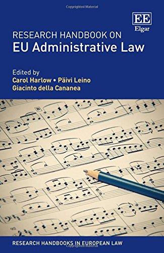 Research Handbook On EU Administrative Law (Research Handbooks In European Law Series)