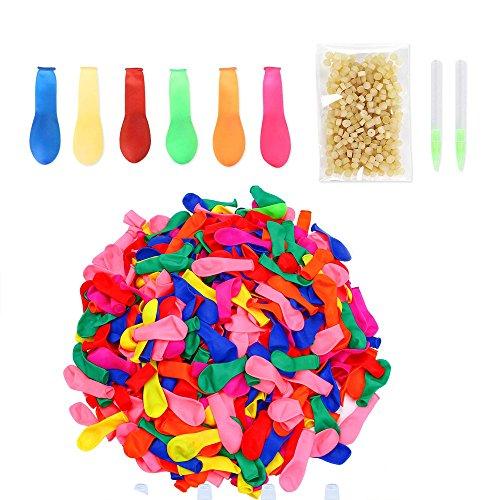 Simuer Water Balloons Quick Refill Kits, 1000pcs Water Bombs Balloons Bulk Fight Games Sports Summer Splash Fun for Kids & Adults