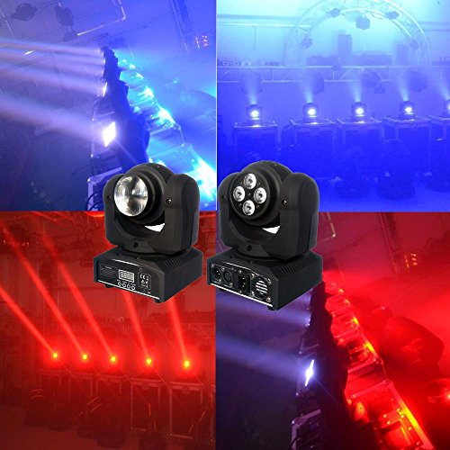 Sumger 100w Double side movie head par lighting,professional rgbw stage lights projector effect with sound active for KTV Xmas Party Wedding Show Club Pub Disco DJ And More by Sumger