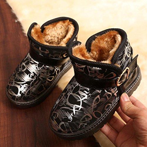 ❆HUHU833 Kinder Mode Mädchen Junge Baby Stiefel, Warme Watte Gepolsterten Schuhe Schnee Stiefel Warm Schuhe Casual Snow Boots Gold