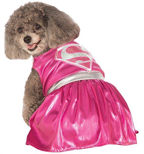 UHC Pink Supergirl Dc Comics Superhero Dress Puppy Halloween Pet Dog Costume, M (Supergirl Dog Costume)