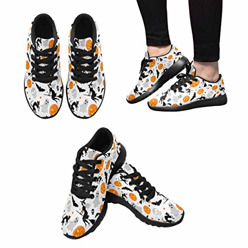 Interestprint Mujeres Trail Running Zapatos Jogging Deportes Ligeros Walking Athletic Sneakers Halloween Background Multi 1