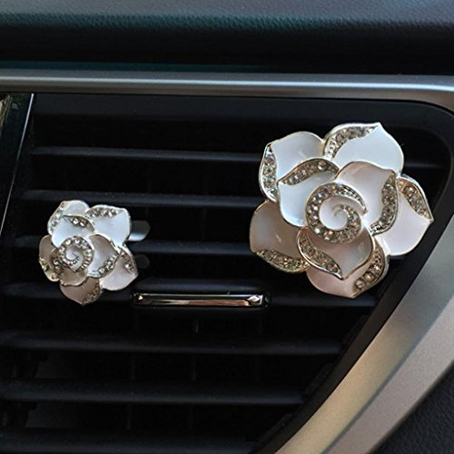 Boddenly 2PC Car Flower Air Freshener Aromatherapy Car Air F