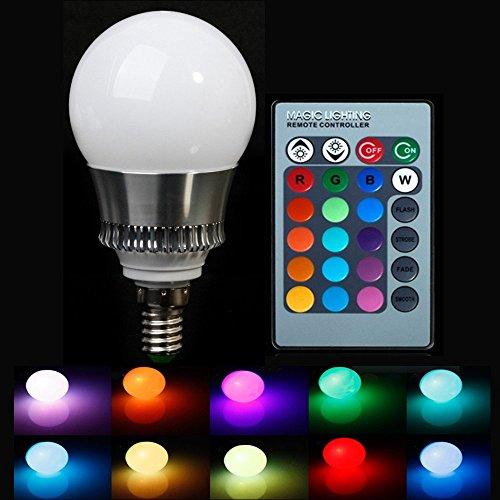 XJLED Neueste RGB E27 geführte Glühlampen Bunte Ändern Hohe Helligkeit AC85-265V Scheinwerfer mit einem Fern Dekorative Beleuchtung (10W E27)