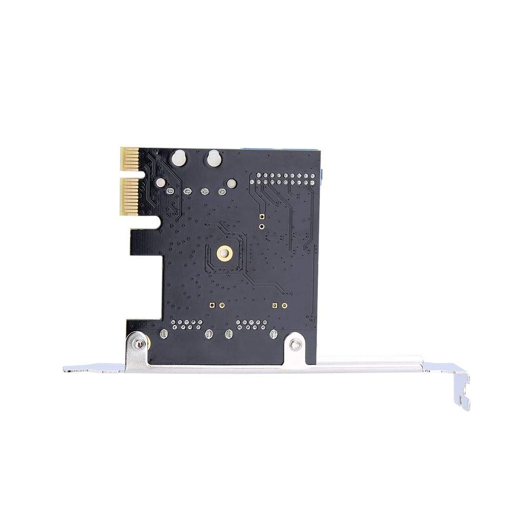 Tihebeyan PCI-E to 2 USB 3.0 Hub Port PCI Expansion Card Adapter with Front 20-PIN Interface