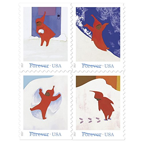 The Snowy Day - USPS Forever Stamps Book of 20 - New 2017 Release (2017 Postage Stamps Christmas For)