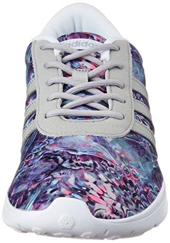 adidas Lite Racer W, Zapatilla de Deporte Baja del Cuello para Mujer, Blanco (Ftwbla/Onicla/Plamat), 36 EU