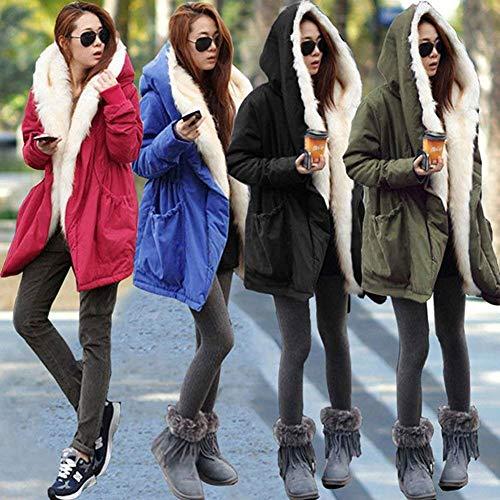 Longue Fourrure Hiver Femme Art Mode Manteau Chaud Parka CwPIq55