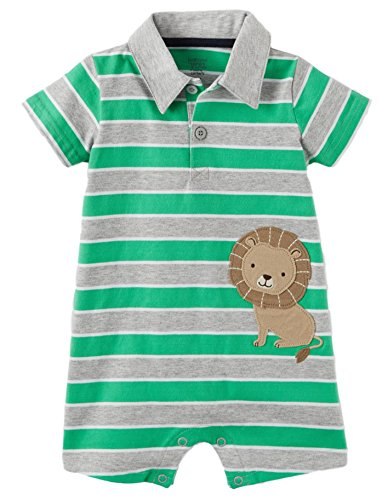 Carter's Just One You Baby Boys 1 pc Stripe Lion Polo Romper