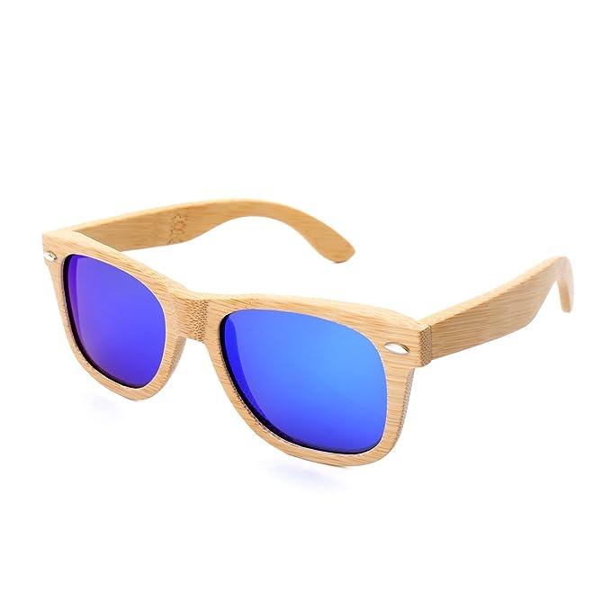 Amazon.com: Wayfarer - Gafas de sol polarizadas de bambú ...