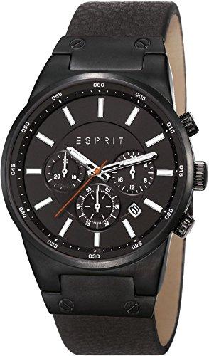 Esprit Herren-Armbanduhr XL Equalizer Outdoor Chronograph Quarz Leder ES107961001