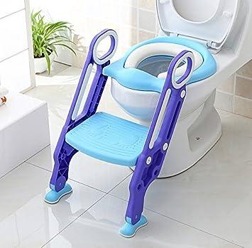 91ca3e3247 Keplin Pot Abattant WC réglable pour bébé Kid Réducteur WC avec échelle  Marchepied pour fille et