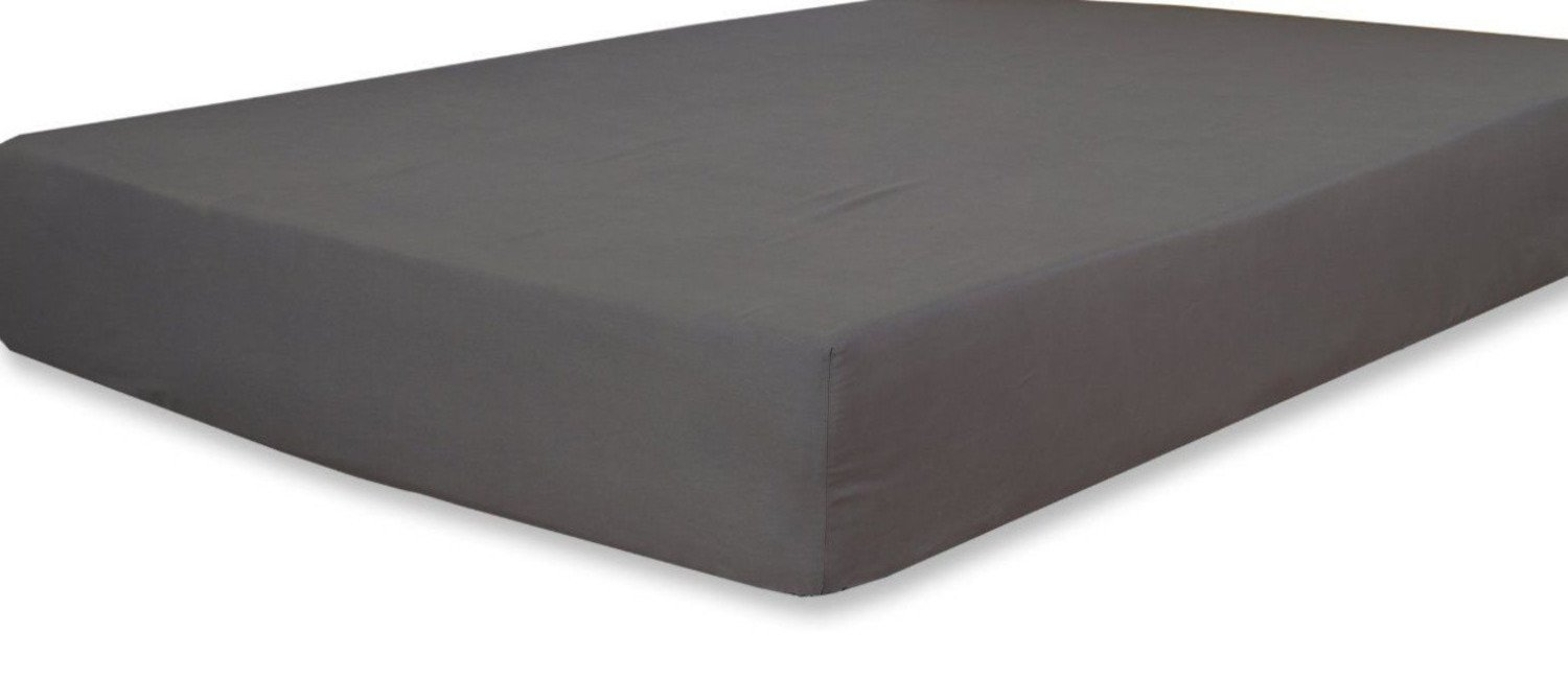 Fitted Sheet (Queen - Grey) - Deep Pocket Brushed Velvety Microfiber, Breathable, Extra Soft and Comfortable