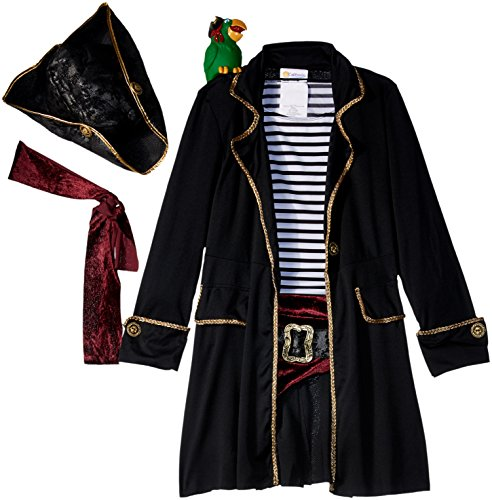 High Seas Captain Girls Costume Black/White]()