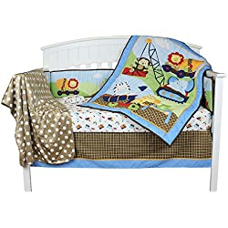 Under Construction 6 Piece Baby Crib Bedding Set by Riegel