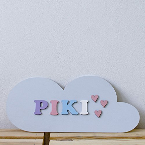 Pastel Cloud - Personalized Name Plate - Baby Shower Gift
