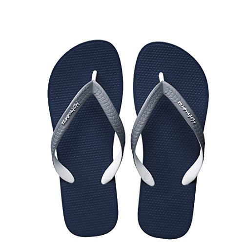 Blue Shoes Thongs Hotmarzz Flops Comfort Slippers Flip Men's Beach Lightweight Dark Sandals Shower I77qaF1