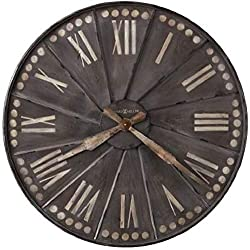 Howard Miller Stockard Wall Clock 625-630 - Oversized Recessed Metal with Quartz Movement