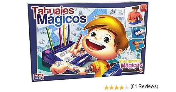 Falomir Tatuajes Mágicos Azul, Juego de Mesa, Manualidades (646454): Amazon.es: Juguetes y juegos