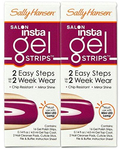 Sally Hansen Salon Insta Gel Strips, Punch Drunk #280 (2 Pack (Insta Gel Strips)