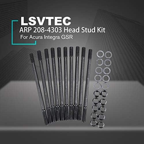 ARP Head Stud Kit for Honda Acura GSR B18C1 B18C5 B20 VTEC or LSVTEC 1.8L Engines Cylinder head screw Black